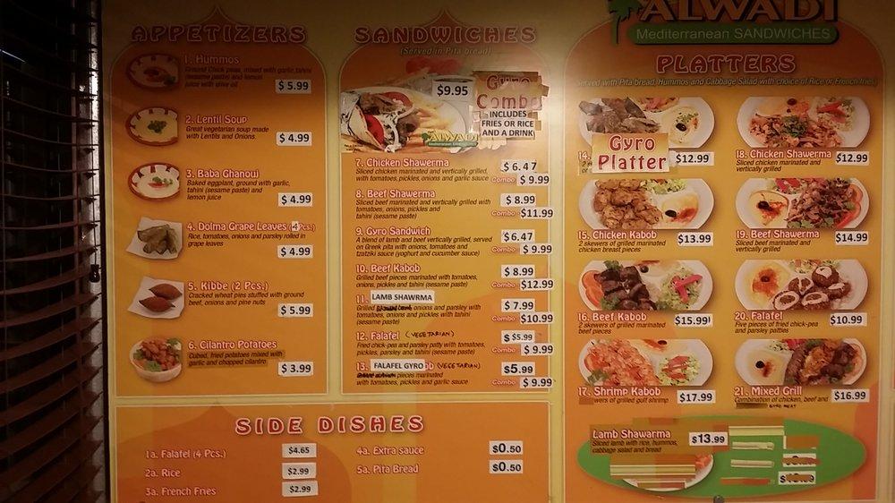 Zain 39 s halal reviews fyza 39 s al wadi mediterranean for Al tannour mediterranean cuisine menu