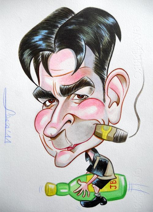 """Charlie Sheen"" por Jordi Arasa"