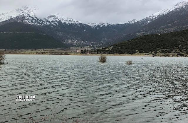 Λίμνη ο κάμπος της Αλέας - Αποκλεισμένη η Εξοχή από την Σκοτεινή (βίντεο)
