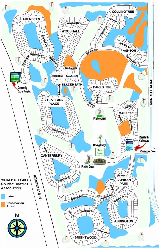 Viera East Golf Club - Map of the Neighborhoods