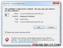 """Cara Menyelesaikan Pesan Error """"Open File - Security Warning"""" Windows"""