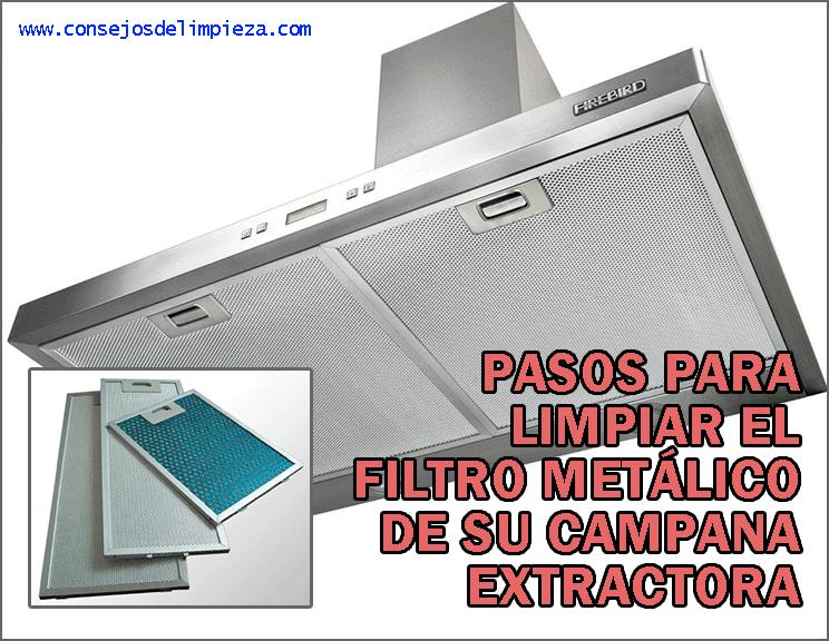 Limpiar los filtros met licos de la campana extractora - Como limpiar el extractor de la cocina ...