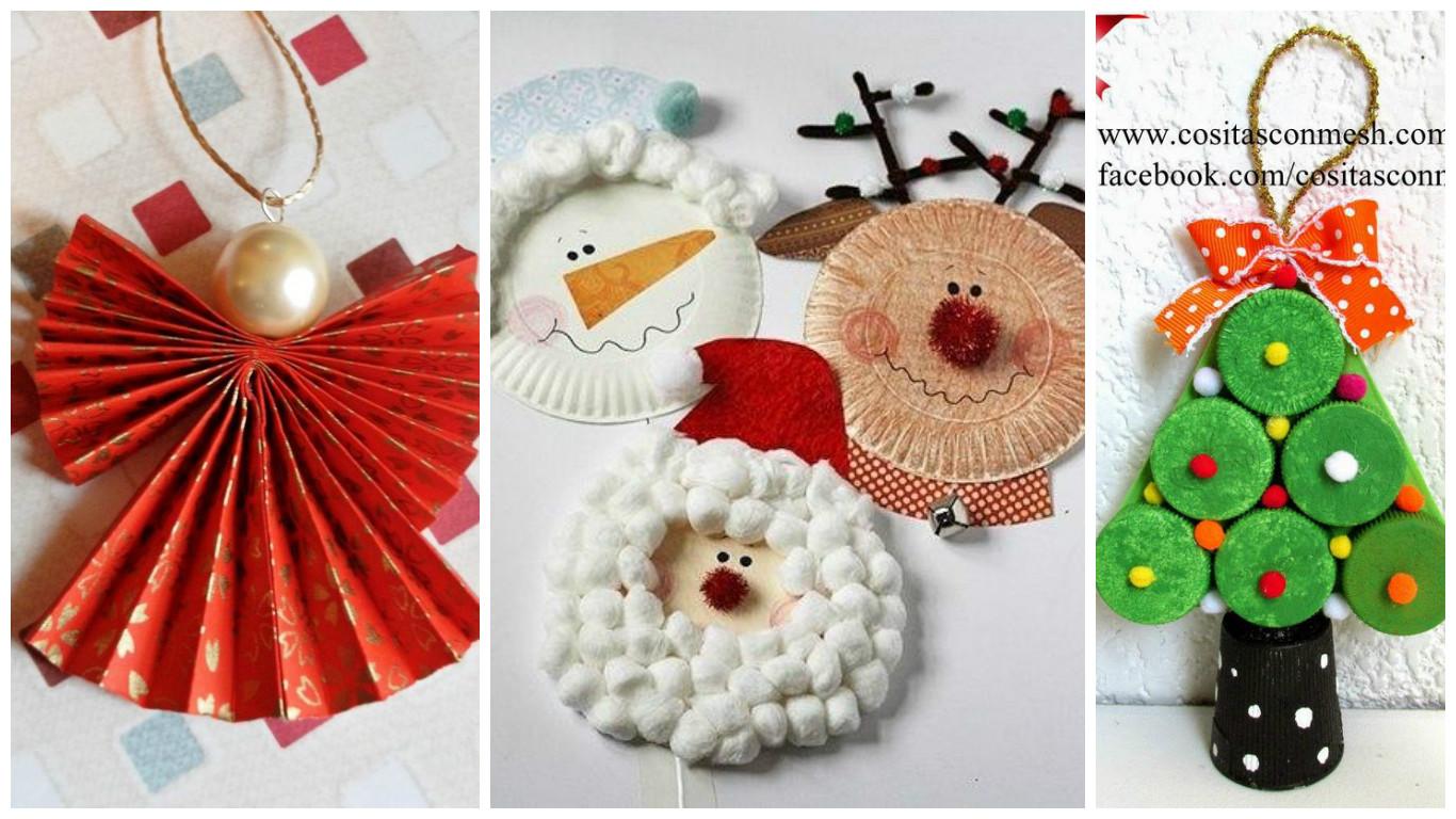 6 incre bles manualidades navide as para hacer con ni os - Manualidades de navidad para ninos paso a paso ...