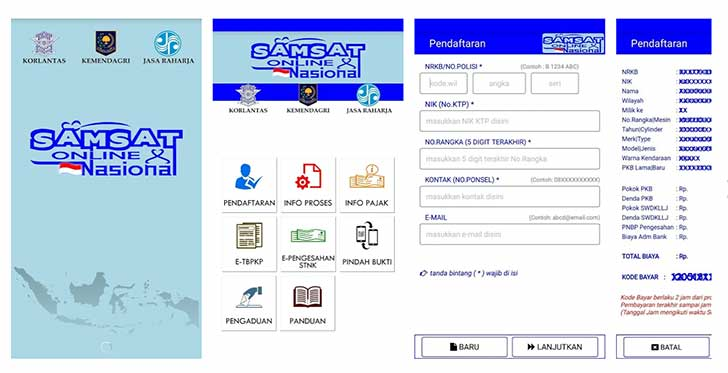 membayar pajak mobil secara online tidak perlu datang ke Samsat