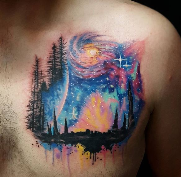 50 impressive planet tattoos designs and ideas 2018 for Tattoo of ak