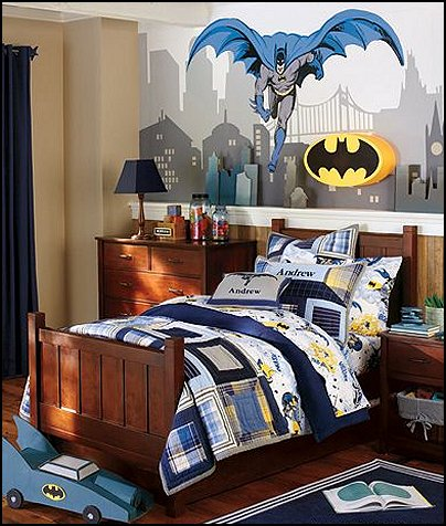 Batman themed bat cave decorating ideas