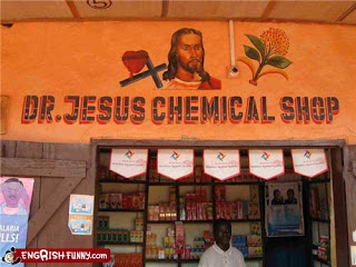 doctor jesus chemical shop african souk funny sign