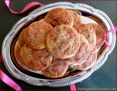 Eggnog Brickle Cookies, holiday cookies with the flavors of eggnog and the crunch of toffee. | Recipe developed by www.BakingInATornado.com | #recipe #cookies #Christmas