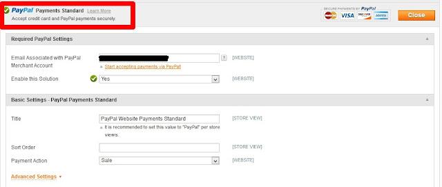 Cara Memasang Log Payment Paypal dan Credit Cards di Website Magento