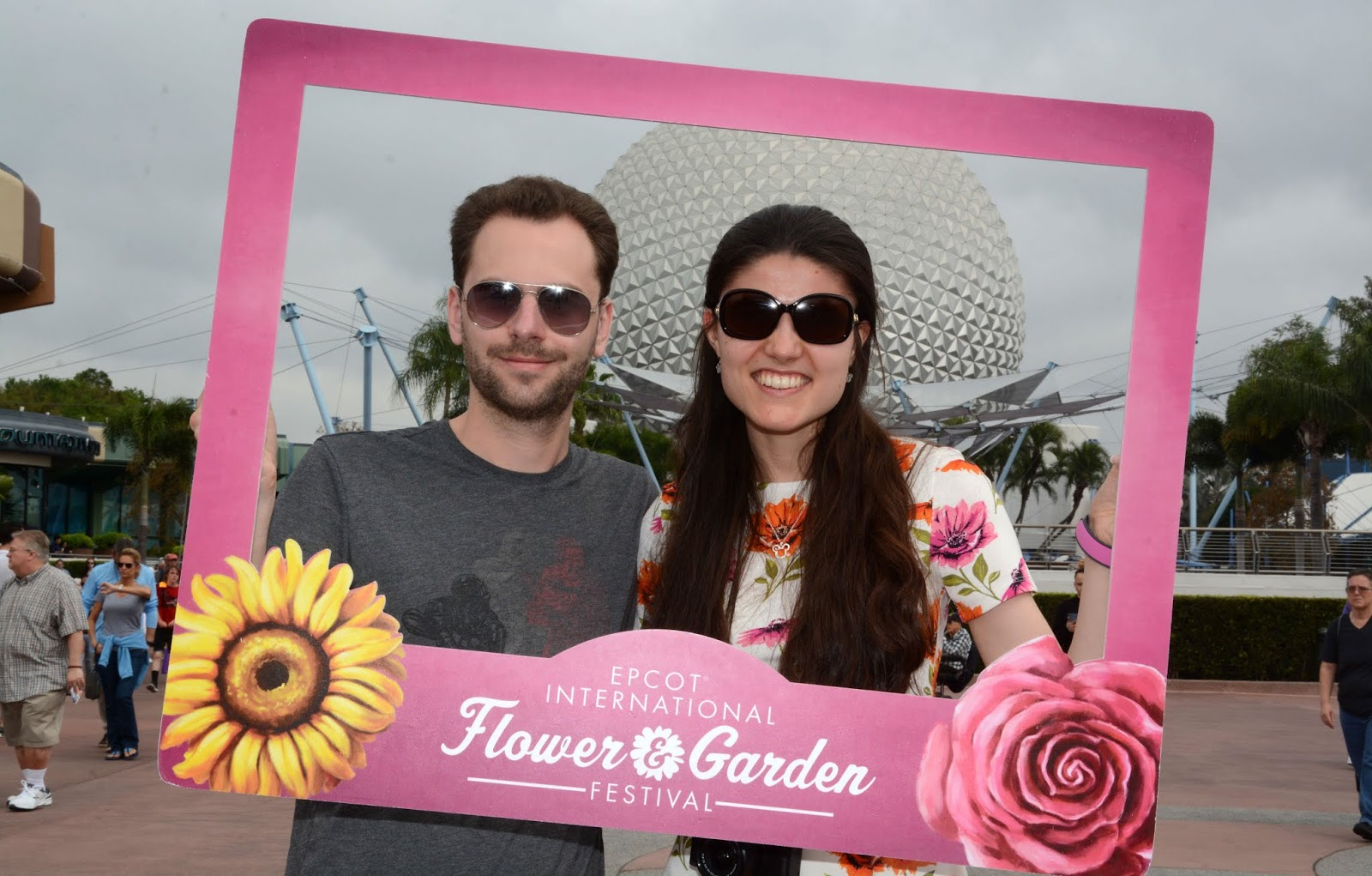 Kat Last and Stuart at the 2019 Epcot International Flower and Garden Festival