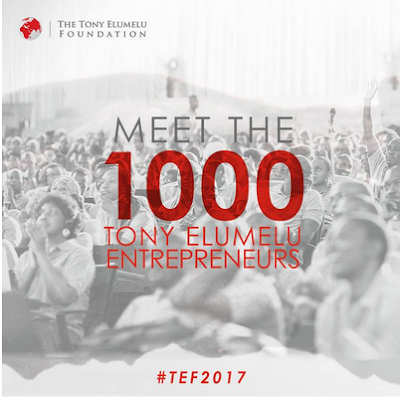 List of 1000 Candidates Selected for Tony Elumelu Entrepreneurship Programme