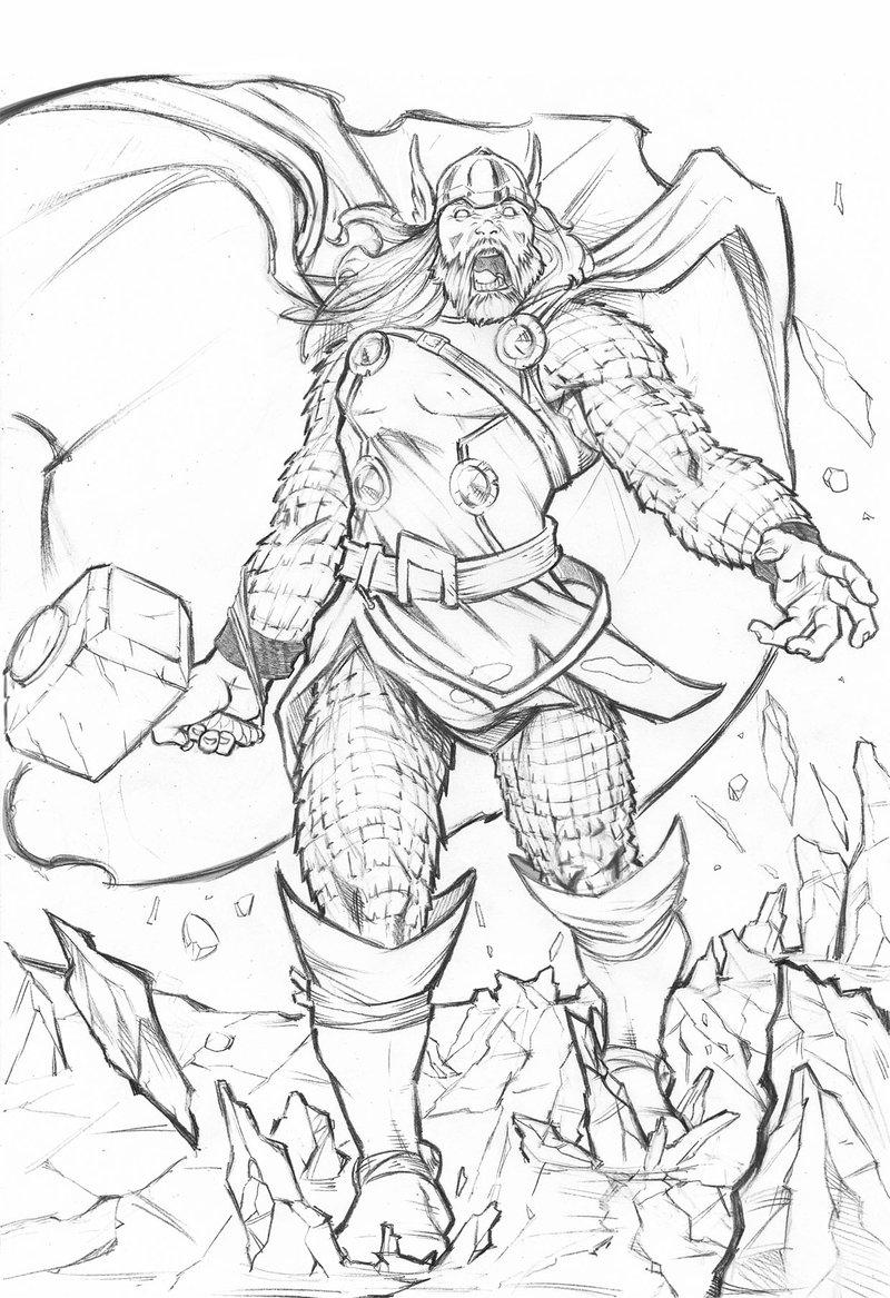 Desenho Do Thor Para Colorir Imagens Para Colorir
