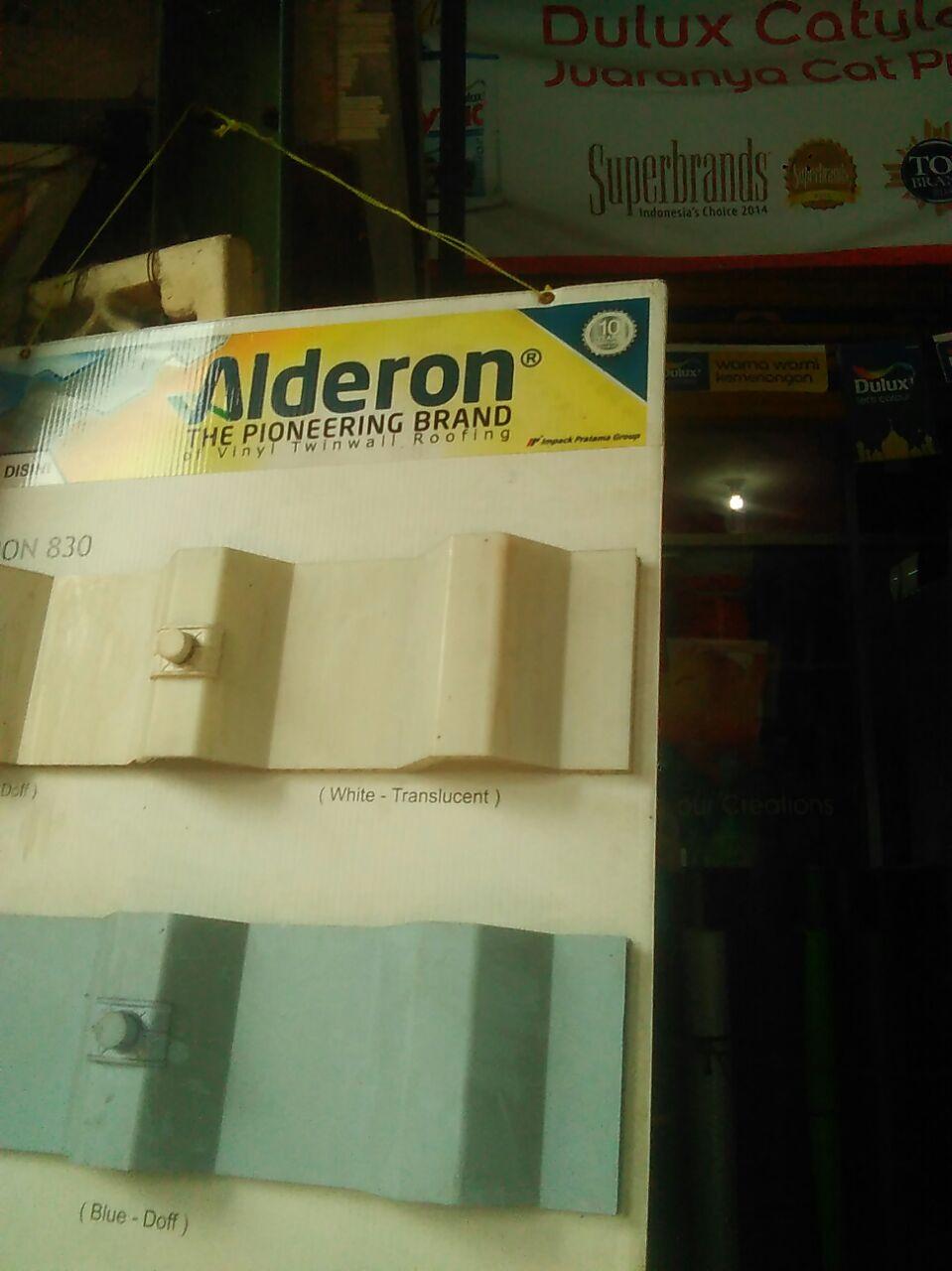 Salah satu atap untuk kanopi yaitu Alderon