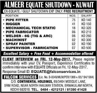 Almeer Equate Shutdown jobs in Kuwait