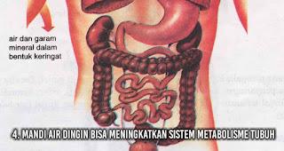 Mandi Air Dingin bisa Meningkatkan sistem metabolisme tubuh