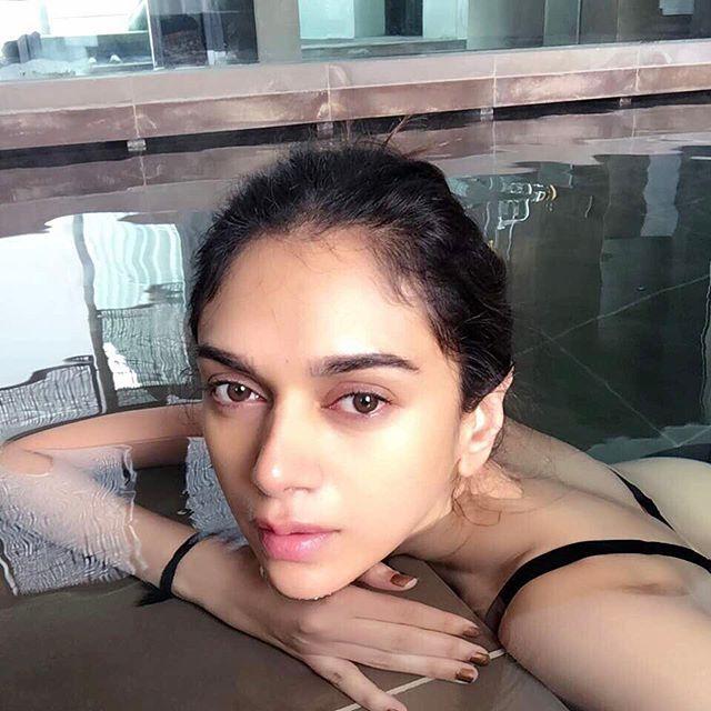 Aditi's secret behind her flawles skin