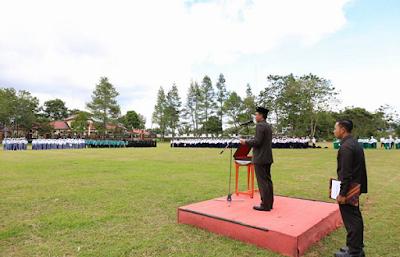 Bupati Lampung Barat Parosil Mabsus Pimpin Upacara Hari Amal Bakti ke 72