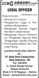 Lowongan Kerja PT. Bank China Construction Bank Indonesia, Tbk