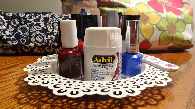 Manicure time with my teen daughter #WhatMonthlyPain #ad
