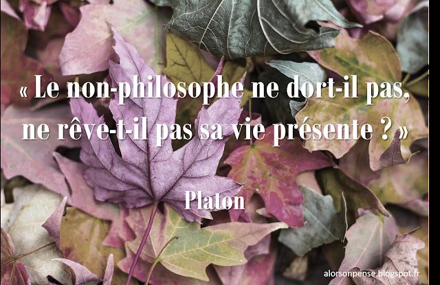 Le non-philosophe ne dort-il pas, ne rêve-t-il pas sa vie présente ? Platon