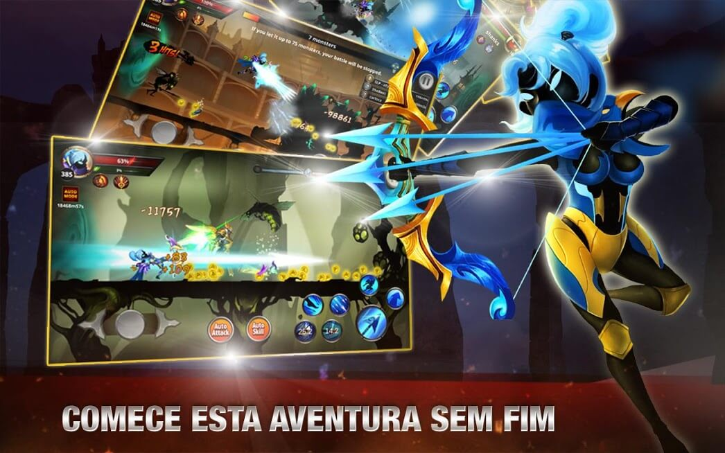 Stickman Legends - Shadow Of Saber Fighting Games Compras Grátis / Mod Menu 2.4.80