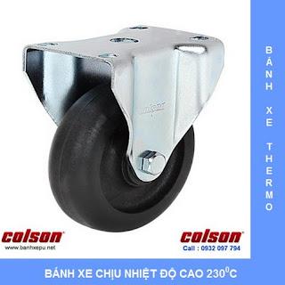Bánh xe đẩy chịu nhiệt 230 độ C chịu tải trọng (90~136kg) www.banhxepu.net