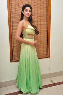 Actress Angana Roy Latest Pohtos in Long Dress at Sri Sri Movie Audio Launch 0025