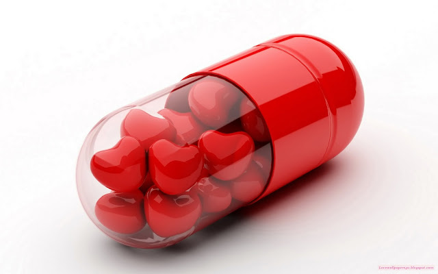 3d love heart capsule hd wallpaper