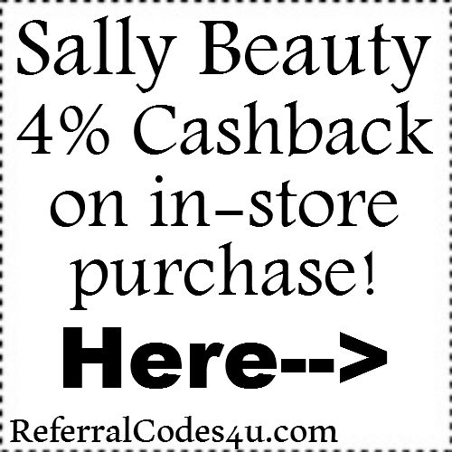 4% Sally Beauty Supply InStore Cashback through ebates Jan, Feb, March, April, May, June, July, Aug, Sep, Oct, Nov, Dec