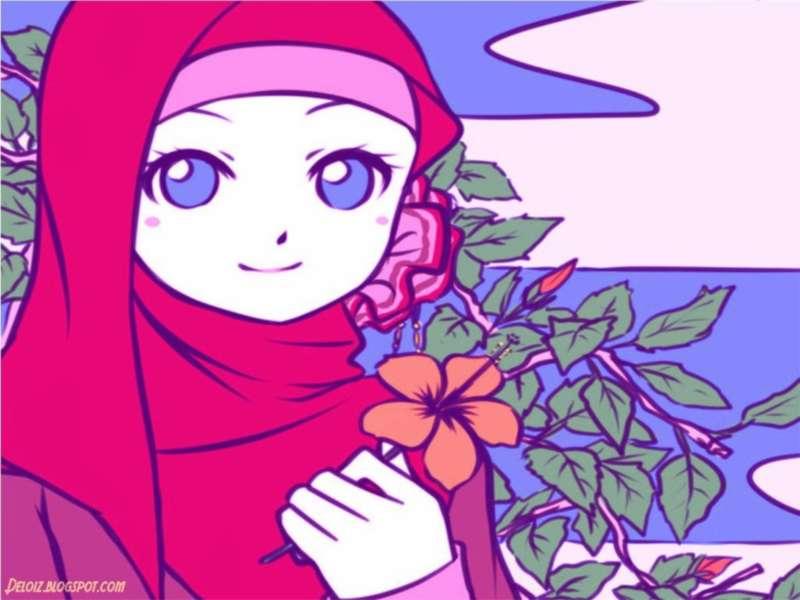Unduh 870+ Gambar Kartun Wanita Muslimah Memegang Bunga HD Terbaik