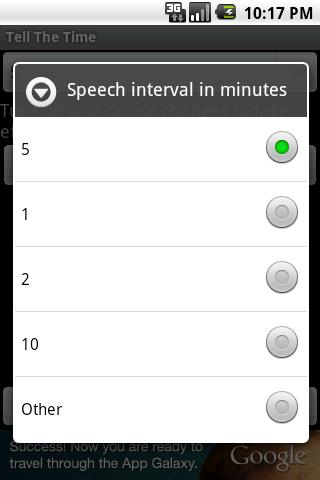 Apps) The Speaking Clock apk : announces the time