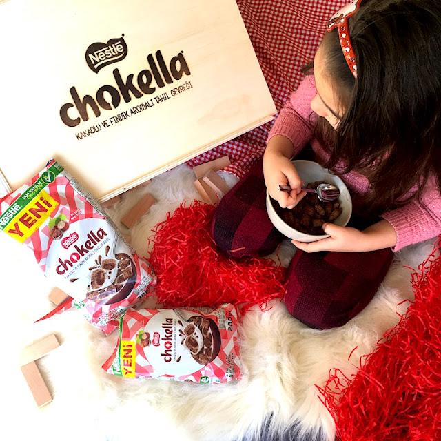 nestle chokella kakaolu ve fındık aramalı tahıl gevreği