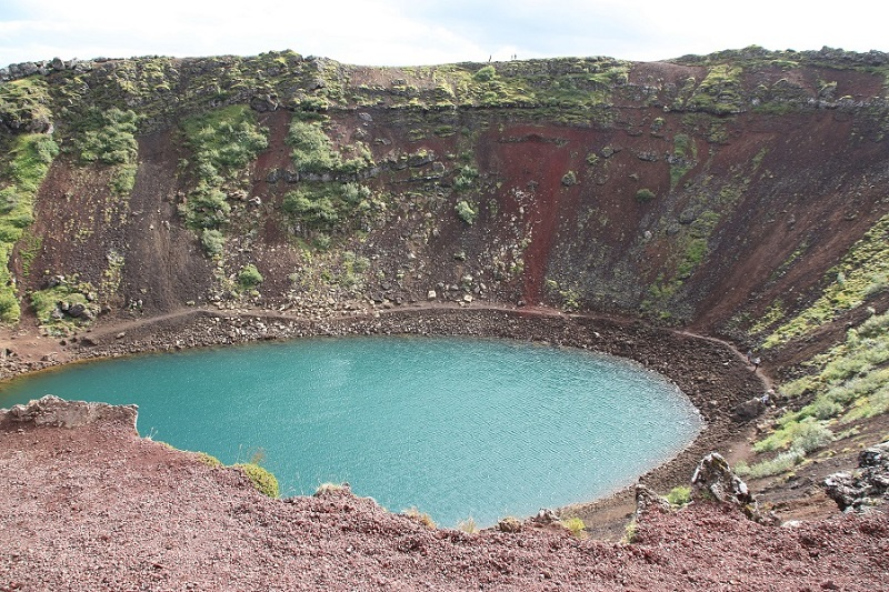 Kerid Crater Lake, Iceland - A Stunning Lake Sitting In A Volcano Surrounded By Rare Red Volcanic Rock