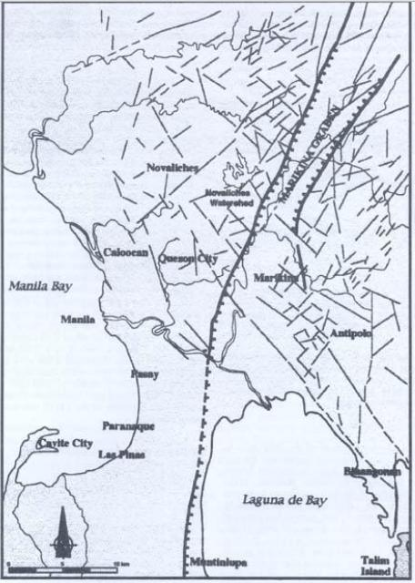 Map of Marikina Fault Line from PHIVOLCS