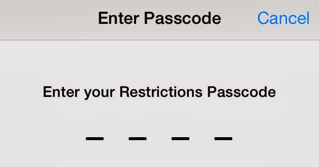 La Fruta Mordida: Restrictions Passcode Forgotten