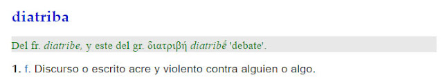Diatriba - definición