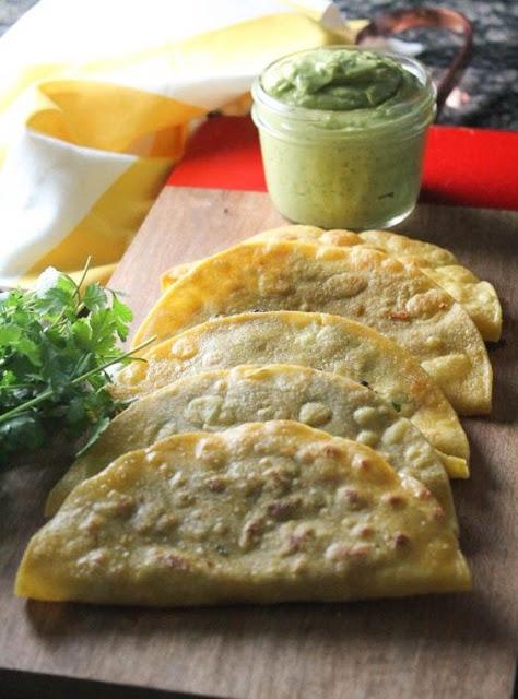 Crispy Black Bean Tacos with Avocado-Lime Sauce