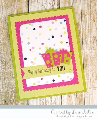Happy Birthday to You card-designed by Lori Tecler/Inking Aloud-stamps and dies from SugarPea Designs