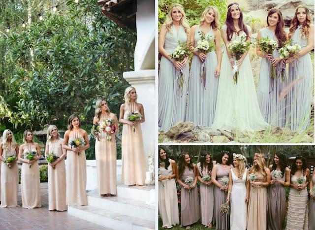 свадьба в стиле бохо платья подружек невесты фото