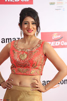 Harshika Ponnacha in orange blouuse brown skirt at Mirchi Music Awards South 2017 ~  Exclusive Celebrities Galleries 073.JPG