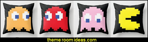pacman throw pillows
