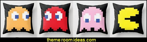 pacman throw pillows