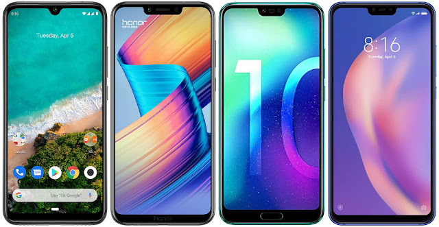 Xiaomi Mi A3 64G vs Honor Play vs Honor 10 64 GB vs Xiaomi Mi 8 Lite 128G