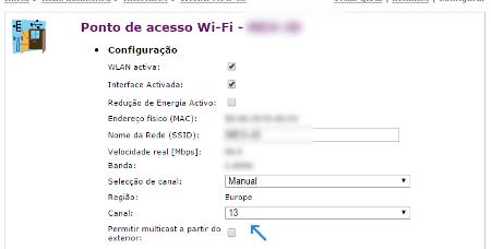 mudar o canal wi-fi