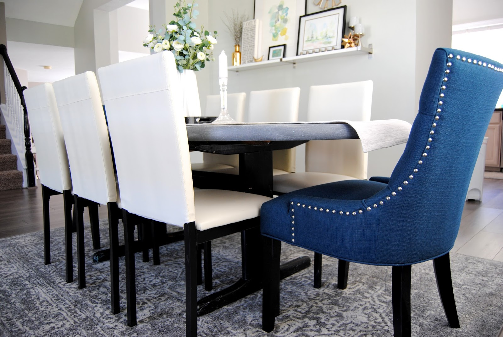 Dark Teal Dining Room Chairs Unfinished Wooden Uk Studio 7 Interior Design