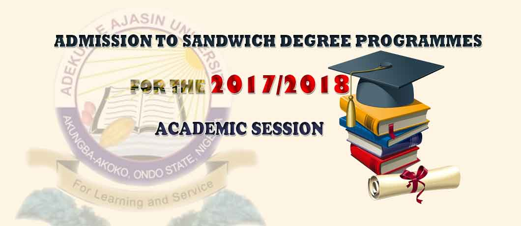 AAUA Sandwich Degree Admission Form for 2017_2018 Academic Session
