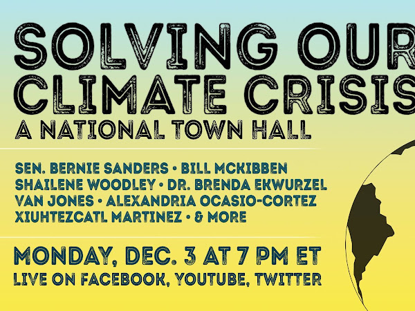 Senator Bernie Sanders to Host Climate Town Hall December 3rd
