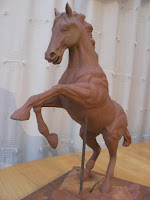Rearing horse maquette