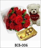 Paket Bunga Coklat dan Boneka