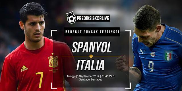 Prediksi Bola Spanyol vs Italia : Partai Klasik Tim Matodor lawan Gli Azzurri